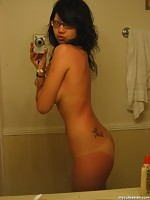 Hot hairy pussy nude girlfriend shows body